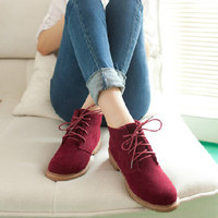 New Women's Vintage Casual Shoes, Women Fashion Motorcycle Boots, Classical Creepers, Artificial Leather Shoes  XWP006
