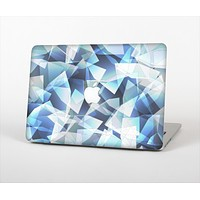 """The Vector Abstract Shaped Blue Overlay V3 Skin Set for the Apple MacBook Air 11"""""""