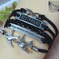 Fashion Dove BESTFRIEND Hand-Knitted Bracelet