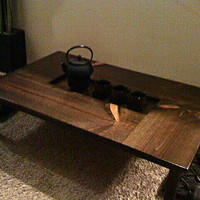 Gorgeous Japanese Chabu-dai Table with Recessed Center - made to order- several sizes and finishes available