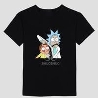 Rick and Morty   short sleeve T-shirt cotton Round collar