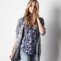 AE Hooded Dolman Cardigan, Frosty Cream | American Eagle Outfitters
