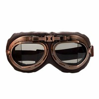 Unisex Outdoor Bronze Retro Skiing Snowboard Bicycle Transparent Goggles UV Goggles for Snowboarding Anti-fog Cycling Goggles