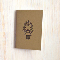Small Notebook: Fairy, Princess, Brown, Favor, Birthday, Party, For Him, For Her, Jotter, Mini Journal, Small Notebook, Cute, Unique, KR339