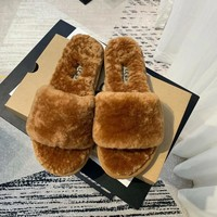 UGG Slippers Winter Warm Furry Sandals