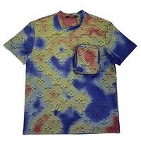 LV New fashion multicolor monogram print couple top t-shirt