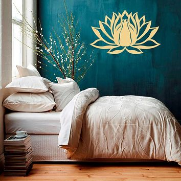 Wall Decal Lotus Flower Namaste Symbol Vinyl Sticker Murals Yoga Zen Bohemian Meditation Buddha  Art Room Bedroom Decal WY-75