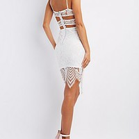 LACE CUT-OUT BODYCON DRESS