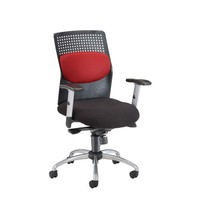 OFM Office Furniture 651-M13-Burgundy Burgundy AirFlo Desk Chair with Metal Accents