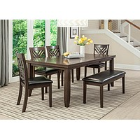C1632D Dark Brown Dining Set