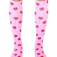 Heart Sucker Knee High Socks
