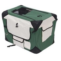 "27"" Portable Travel Folding Crate - Green/Cream"