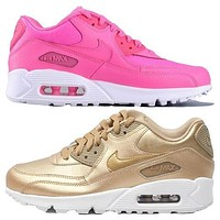 NIKE AIR MAX 90 fashion ladies men running sports shoes sneakers F-PS-XSDZBSH Pink