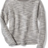 French-Terry Hi-Lo Sweater for Girls | Old Navy