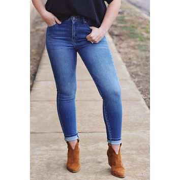 Stacey Solid High Rise Skinny Jean