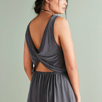 Silence + Noise Knit Twist-Back Romper - Urban Outfitters
