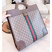 Wearwinds GUCCI Fashion New Stripe More Letter Leather Shopping Leisure Women Men Handbag