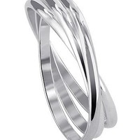 BDRS018 925 Sterling Silver Triple Band Thumb Ring