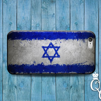 iPhone 4 4s 5 5s 5c 6 6s plus iPod Touch 4th 5th 6th Gen Blue White Star of David Jewish Israel Jew Cool Flag Country Case Cute Phone Cover
