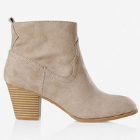 Western Zip-up Ankle Boot from EXPRESS
