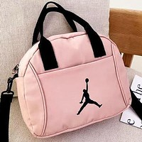 Jordan New fashion people print shoulder bag crossbody bag handbag Pink