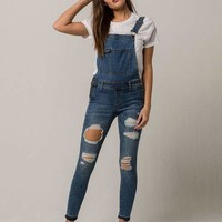 BOOM BOOM JEANS Destructed Womens Overalls