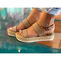 Emery Wedges-Brown-Silver Bling