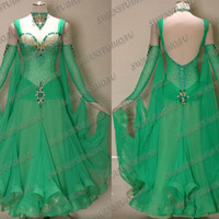 BALLROOM .STANDARD. SMOOTH DANCE  DRESS SIZE S M L GREEN WB1812 RED WB1484