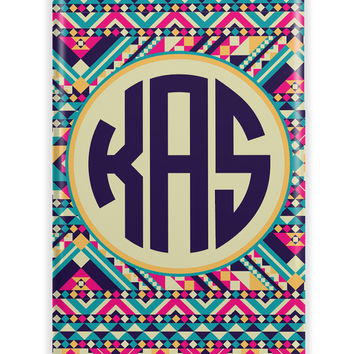 CUTE AZTEC PRINT - TRIBAL MONOGRAMMED IPHONE CASE FOR TEENS