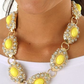 Hail To Thee Necklace: Yellow/Gold