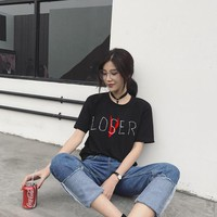 ZSIIBO 2018 Movie It Losers Club T Shirt Men Women Casual  Short Sleeve Loser Lover It Inspired T-Shirt Tops
