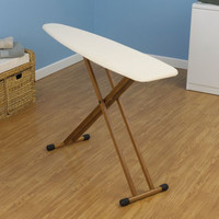 "4 Leg Bamboo Ironing Board (Natural) (31-37""H x 14""W x 54""D)"