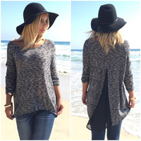 Right Here Waiting Knit Blouse