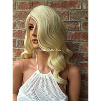 """Patty Light Blonde Waves lace front wig 16"""""""
