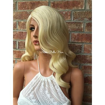 Patty Light Blonde Waves lace front wig 16""