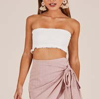 Not Happening skirt in blush Produced By SHOWPO