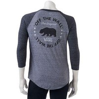 Men's Vans Off The Wall Graphic Raglan 3/4 Sleeve T-Shirt - Size Large - NWT