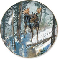 Wild Wings Steppin Out Moose Decorative Plate