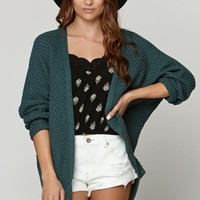 LA Hearts V Back Cable Stitch Cardigan - Womens Sweater