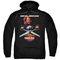 CHILDS PLAY 2/CHUCKYS BACK - ADULT PULL-OVER HOODIE - Black -