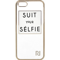 River Island Womens White suit your selfie iPhone 5 case