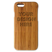 Personalized Bamboo Wood iPhone 6 case (4.7Inch) (Email us your design for Engraving)