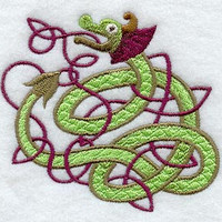 Celtic Dragon - Embroidered Terry Kitchen Towel  Bathroom Hand Towel