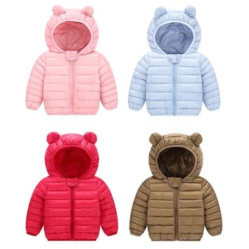 2018 New Baby  Winter Coats Down Cotton  Coat  Kids Baby  Clothes Hooded Infant  Down For Boys And Girls