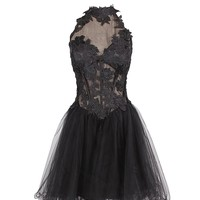 Dresstells Short Tulle Prom Dress Sweet 16 Birthday Party Dress