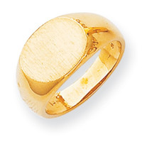 14k Yellow Gold Open Back Signet Ring