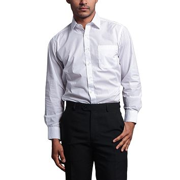 Regular Fit Long Sleeve Dress Shirt - White