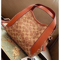 COACH New Fashion Pattern Print Leather Shoulder Bag Handbag Crossbody Bag