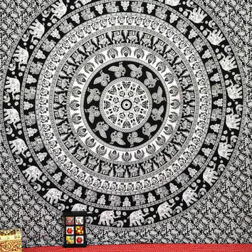 Hippie Tapestry Tapestries, Elephant Tapestries, Tapestry Wall Hanging, Mandala Tapestries, Bohemian Wall Tapestries, Indian Tapestry