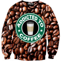 ☮♡ Addicted To Coffee Sweater ✞☆